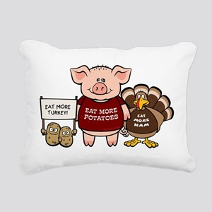 holiday_dinner Rectangular Canvas Pillow